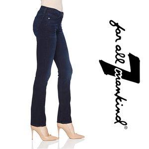 "7FAMK | ""Straight Leg"" Low Rise Jeans"